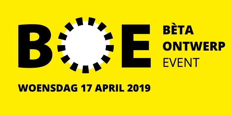 Bètaontwerpevent 17 april 2019 (NIEUWE DATUM)