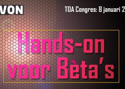 NVON TOA congres: Hands-on voor Bèta's